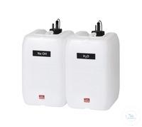 Zestaw 4 kanistrów 20 litrów z czujnikami poziomu typ KAS 40