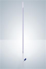 Biureta z kranem teflonowym, igłowym, klasa A (szkło białe)