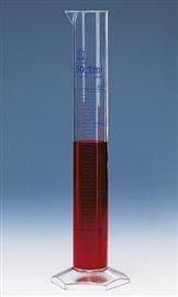 Cylinder miarowy wysoki PMP, klasa A, skala niebieska