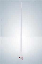 Biureta z kranem teflonowym, prostym, klasa A (szkło białe)