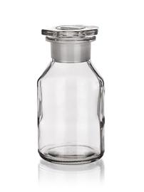 Butelka szklana ze szlifem z szeroką szyją Simax
