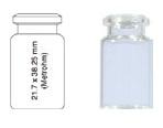 Vialka N 20  kapslowana 5 ml biała płaskodenna