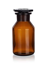 Butelka szklana ze szlifem z szeroką szyją (oranż) Simax