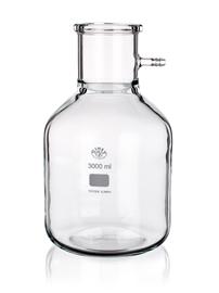 Kolba filtracyjna ze szklanym podłączeniem, forma cylindryczna, Simax