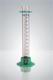 Cylinder wysoki z certyfikatem serii, klasa A (skala niebieska), stopka z tworzywa