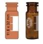 Vialka N 11 zatrzaskowa 1,5  ml oranż płaskodenna