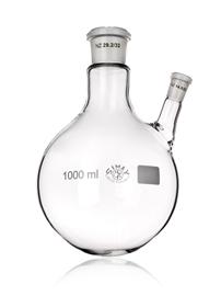 Kolba szklana dwuszyjna z jedną szyją skośną Simax