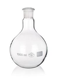 Kolba szklana płaskodenna ze szlifem Simax