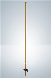 Biureta z kranem szklanym, klasa B (szkło oranż)
