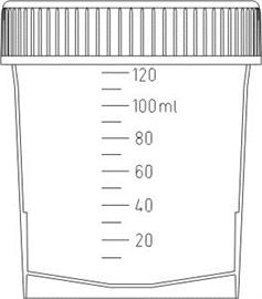 Pojemnik na mocz 100-120ml sterylny