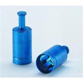 Korki aluminiowe Labocap z uchwytem (niebieski)