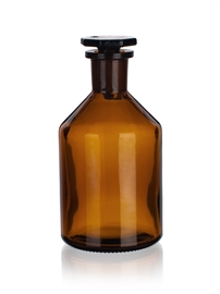 Butelka szklana ze szlifem z wąską szyją (oranż) Simax
