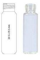 Vialka N 18  zakręcana 20 ml biała płaskodenna