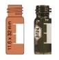 Vialka N 10  zakręcana 1,5 ml oranż płaskodenna