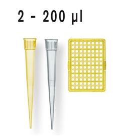 Końcówki do pipet 2-200ul niesterylne
