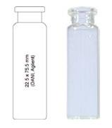 Vialka N 20  kapslowana 20 ml biała płaskodenna