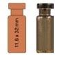 Vialka N 11 kapslowana 1,5  ml oranż płaskodenna