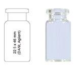 Vialka N 20  kapslowana 10 ml biała płaskodenna