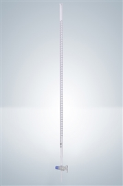 Biureta z kranem szklanym, klasa A (szkło białe)