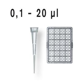 Końcówki do pipet 0,1-20ul niesterylne
