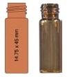 Vialka N 13 zakręcana 4 ml oranż płaskodenna