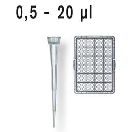 Końcówki do pipet 0,5-20ul niesterylne